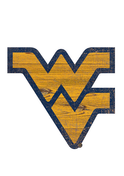 NCAA University of West Virginia Mountaineers  Distressed Logo Cutout Sign