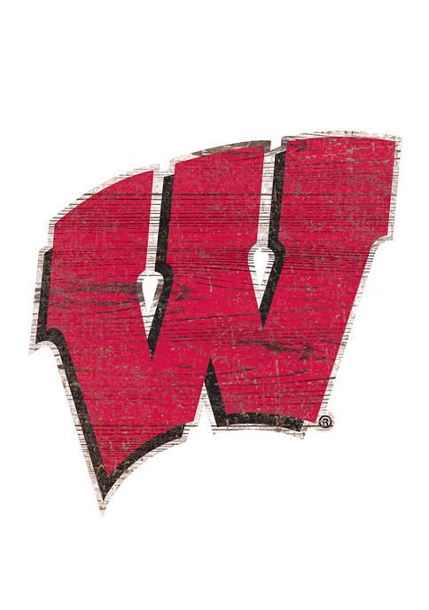 Fan Creations NCAA University of Wisconsin Distressed Logo
