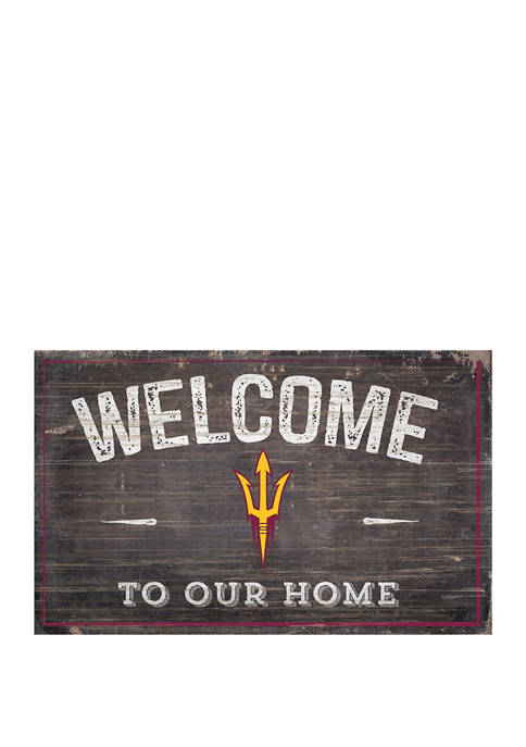 NCAA Arizona State  Sun Devils 11 in x 19 in Welcome to Our Home Sign