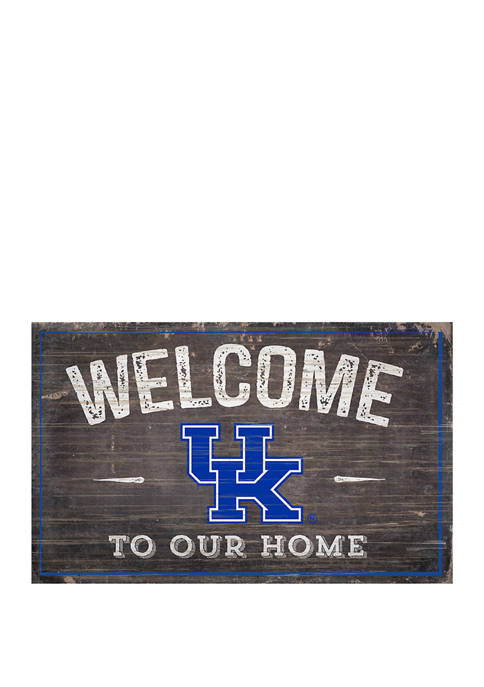 NCAA University of Kentucky Wildcats 11 in x 19 in  Welcome to Our Home Sign