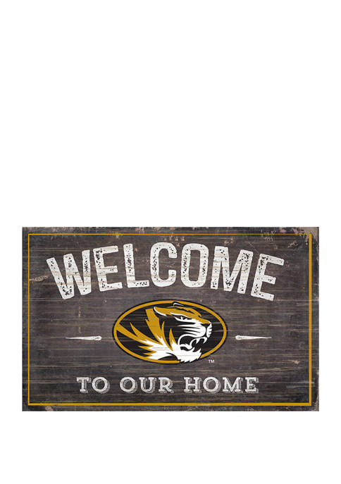 NCAA University of Missouri  Tigers 11 in x 19 in Welcome To Our Home Sign