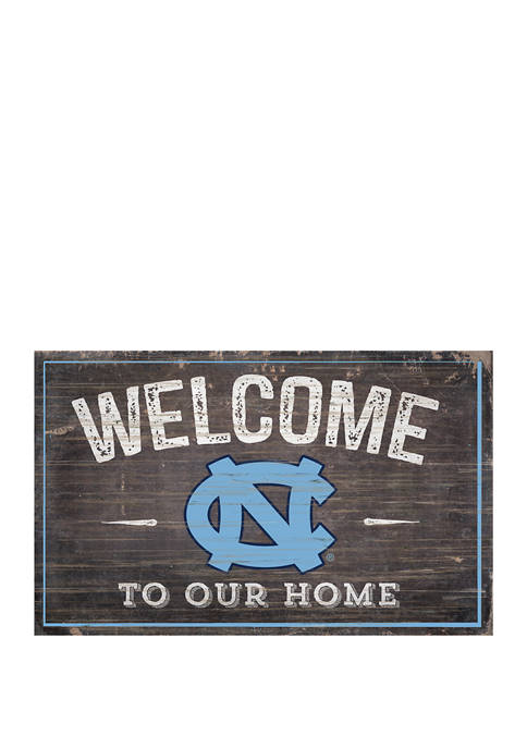 NCAA University of North Carolina Tar Heels 11 in x 19 in Welcome To Our Home Sign