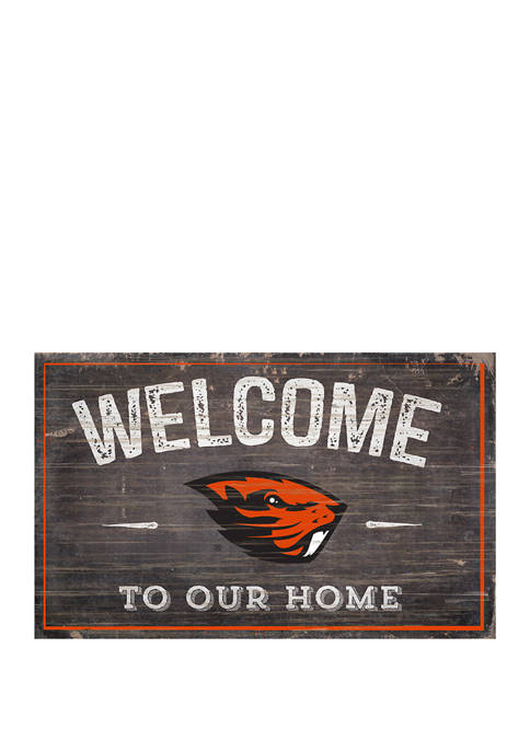 NCAA Oregon State Beavers 11 in x 19 in Welcome to Our Home Sign