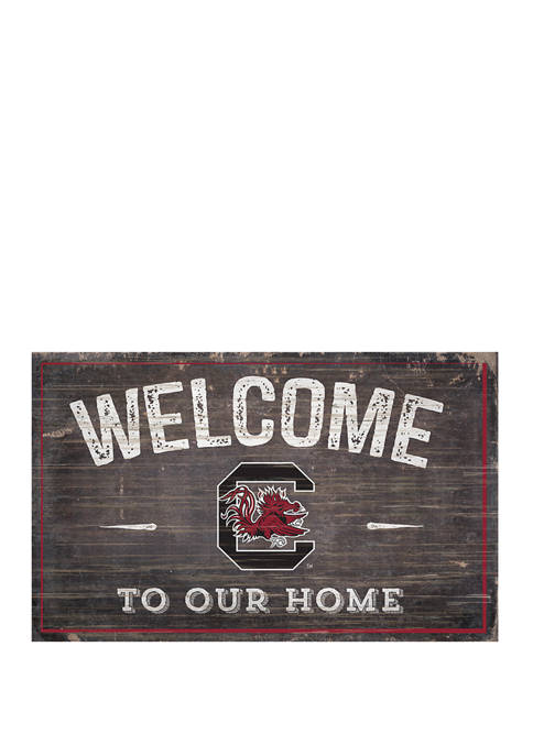 NCAA University of South Carolina Gamecocks 11 in x 19 in Welcome to Our Home Sign