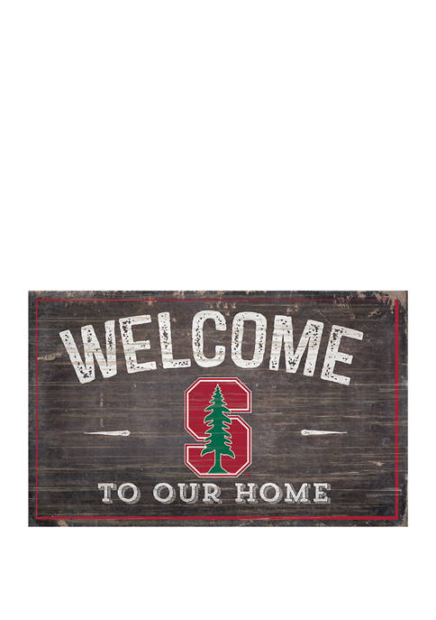 NCAA Stanford University Cardinals 11 in x 19 in Welcome to Our Home Sign