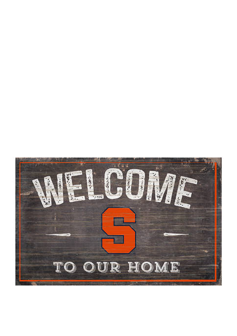 NCAA Syracuse University Orange 11 in x 19 in Welcome to Our Home Sign