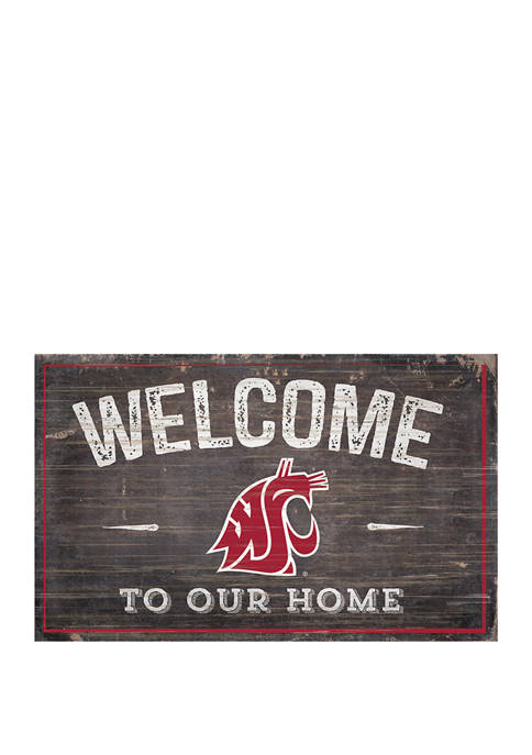 NCAA Washington State University Cougars 11 in x 19 in Welcome to Our Home Sign