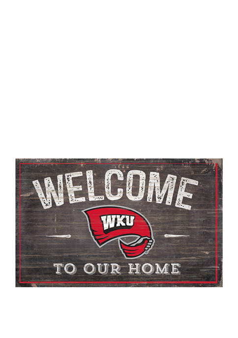 NCAA Western Kentucky University Hillstoppers 11 in x in 19 Welcome to Our Home Sign