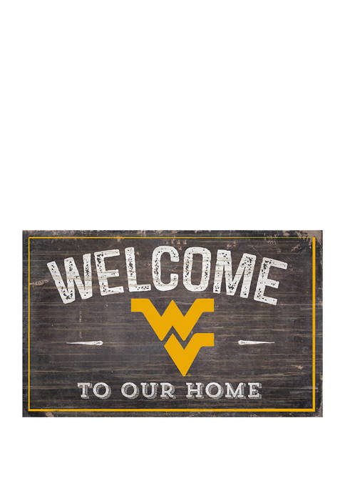 NCAA University of West Virginia Mountaineers 11 in x 19 in Welcome to Our Home Sign