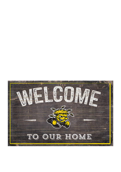 NCAA Wichita State University Shockers 11 in x 19 in Welcome to Our Home Sign