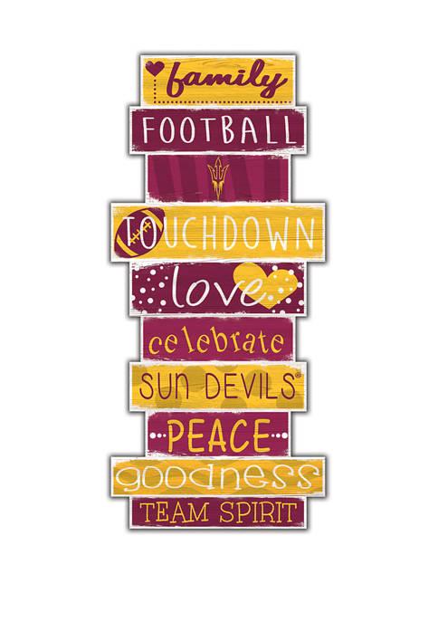 NCAA Arizona State University Sun Devils 24 Inch Celebrations Stack Sign