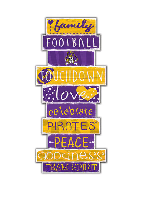 NCAA East Carolina University Pirates 24 Inch Celebrations Stack Sign