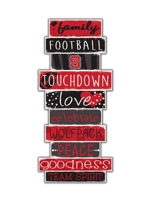 NCAA NC State Wolfpack Celebrations Stack 24 Inch Sign