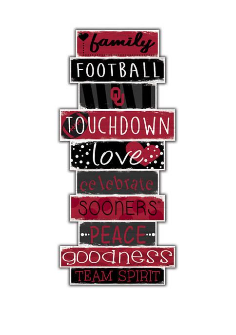NCAA University of Oklahoma Sooners Celebrations Stack 24 Inch Sign