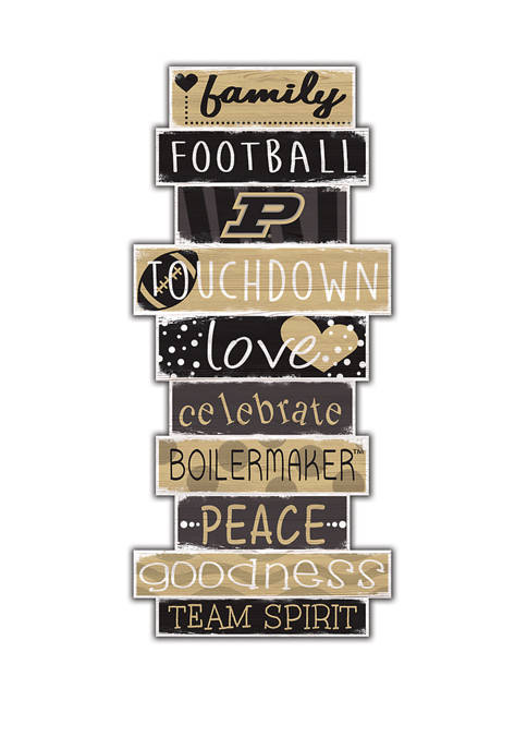NCAA Purdue Boilermakers Celebrations Stack 24 Inch Sign