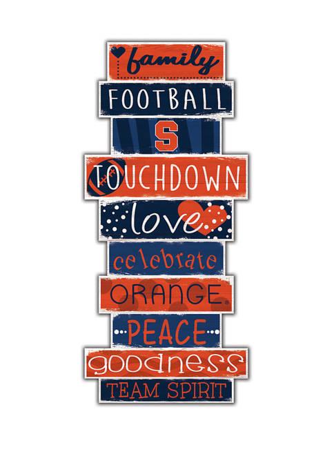 NCAA Syracuse Orange Celebrations Stack 24 Inch Sign