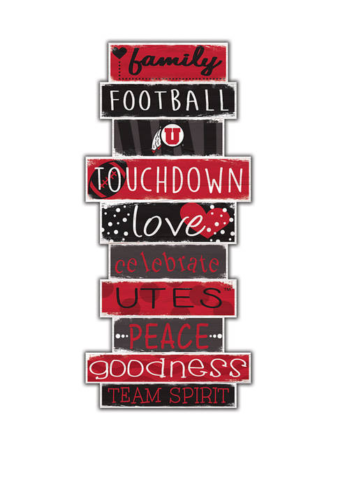 NCAA Utah Utes Celebrations Stack 24 Inch Sign