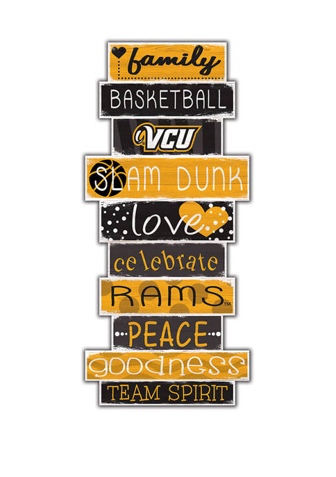 NCAA VCU Rams 24 Inch Celebration Stack Sign