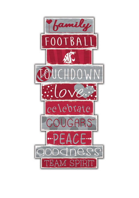 NCAA Washington State Cougars Celebrations Stack 24 Inch Sign