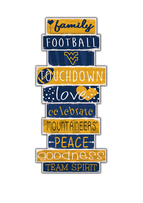 NCAA West Virginia University Mountaineers Celebrations Stack 24 Inch Sign