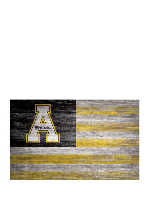 NCAA Appalachian State Mountaineers 11 in x 19 in Distressed Flag