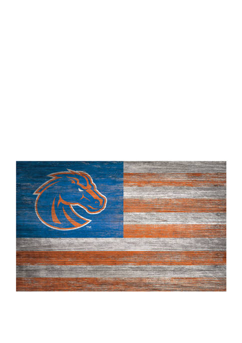 NCAA Boise State Broncos 11 in x 19 in Distressed Flag
