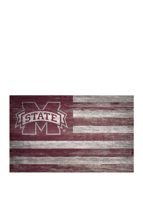 NCAA Mississippi State Bulldogs 11 in x 19 in University Distressed Flag