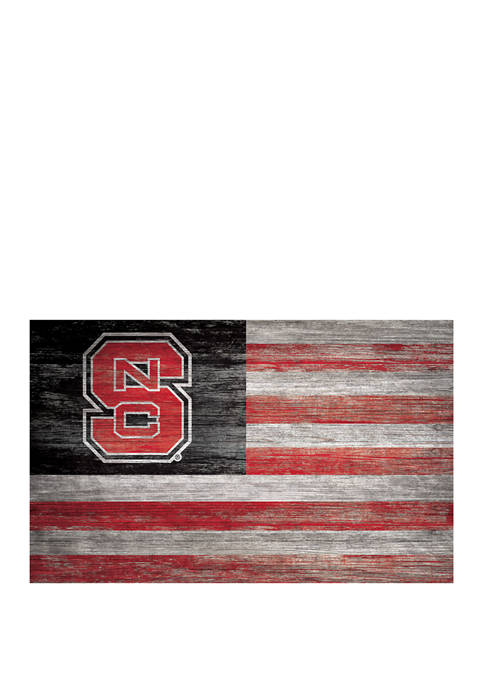NCAA NC State Wolfpack 11 in x 19 in Distressed Flag