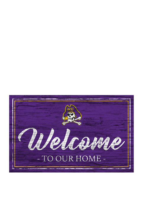 NCAA East Carolina Pirates 11 in x 19 in Team Color Welcome Sign