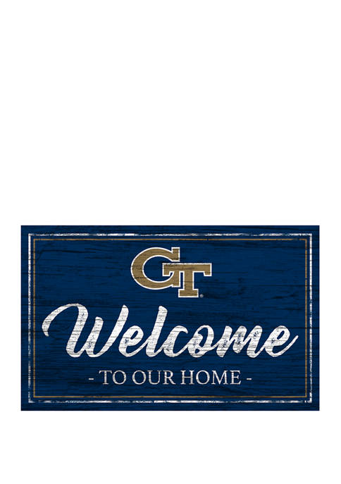NCAA Georgia Tech Yellow Jackets 11 in x 19 in Team Color Welcome Sign