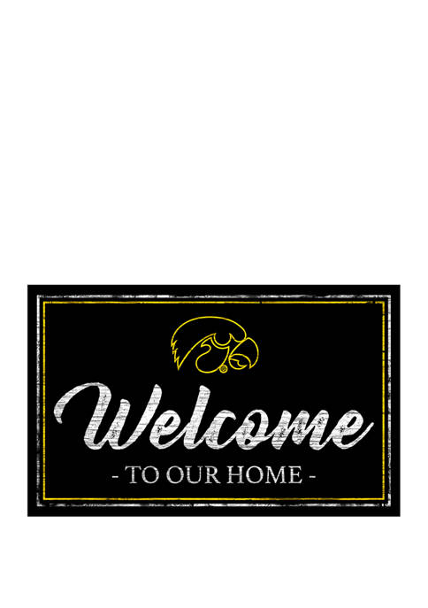 NCAA Iowa Hawkeyes 11 in x 19 in Team Color Welcome Sign