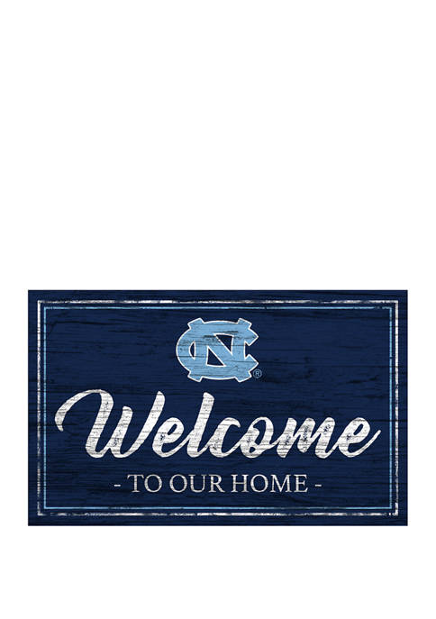 NCAA University of North Carolina Tar Heels  11 in x 19 in Team Color Welcome  Sign