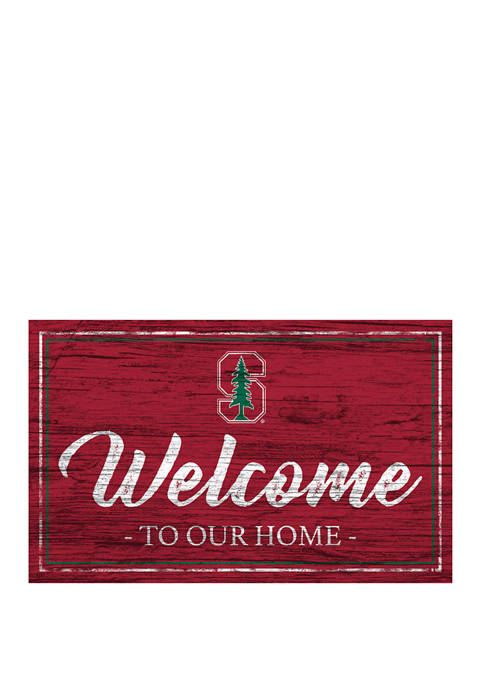 NCAA Stanford Cardinals 11 in x 19 in Team Color Welcome Sign