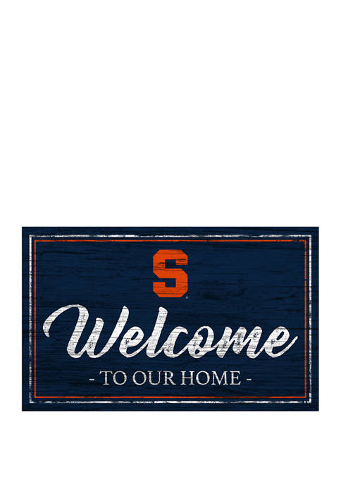 NCAA Syracuse Orange 11 in x 19 in Team Color Welcome  Sign