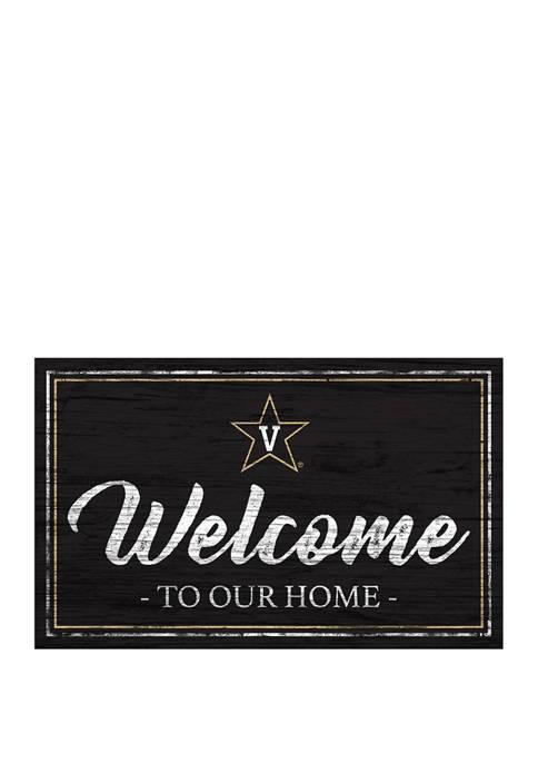 NCAA Vanderbilt Commodores University 11 in x 19 in Team Color Welcome Sign