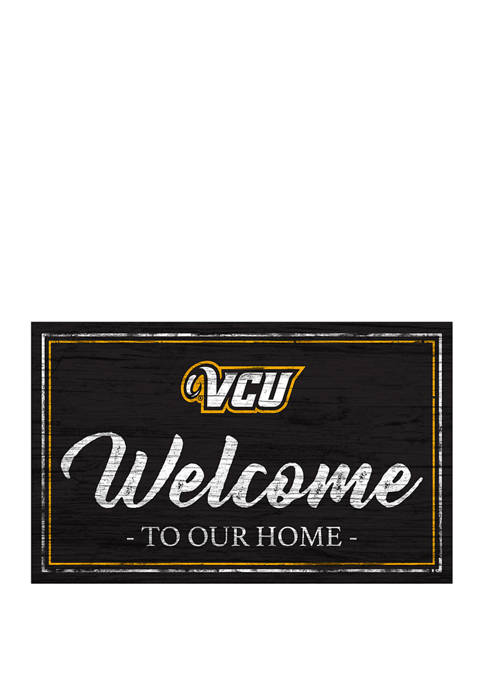 NCAA VCU Rams 11 in x 19 in Team Color Welcome Sign