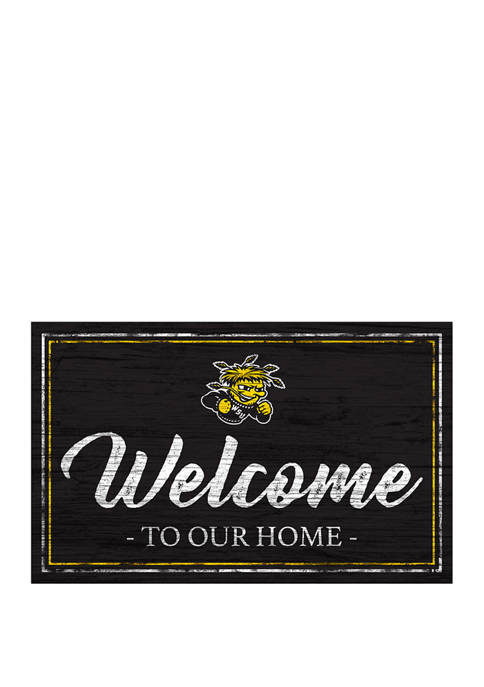 NCAA Wichita State Shockers 11 in x 19 in Team Color Welcome Sign
