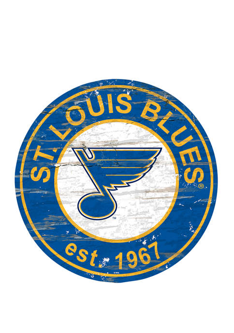 NHL St.Louis Blues Distressed Round Sign