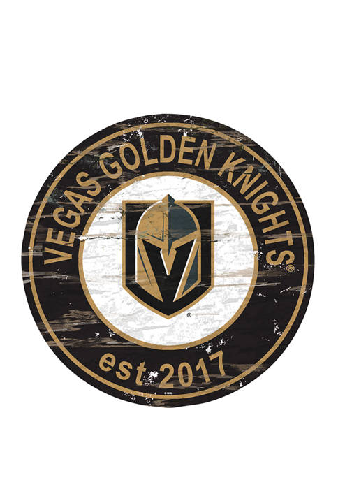 NHL Vegas Golden Knights Distressed Round Sign