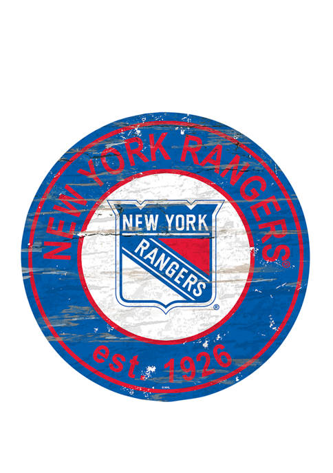 Fan Creations NHL New York Rangers Distressed Round