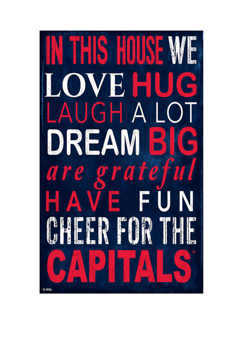 NHL Washington Capitals 11 in x 19 in In This House Sign