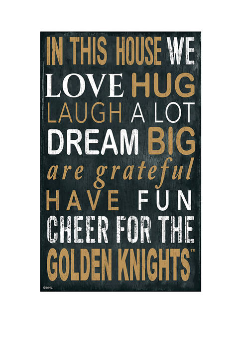 NHL Vegas Golden Knights 11 in x 19 in In This House Sign