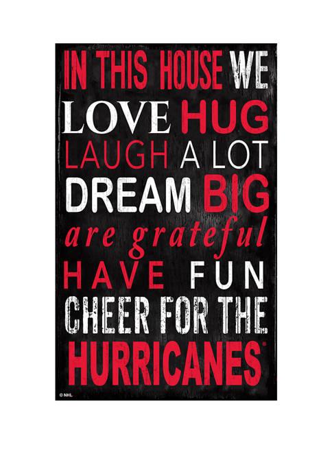 Fan Creations NHL Carolina Hurricanes 11 in x