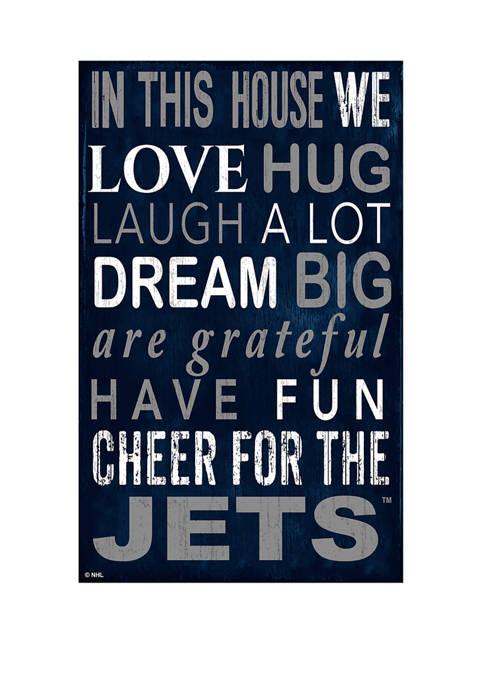 Fan Creations NHL Winnipeg Jets 11 in x
