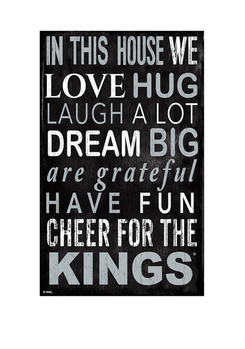 NHL Los Angeles Kings 11 in x 19 in In This House Sign