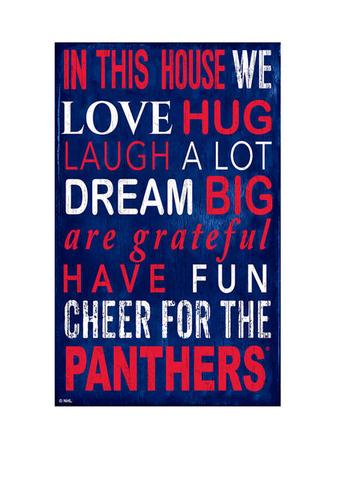 NHL Florida Panthers 11 in x 19 in In This House Sign