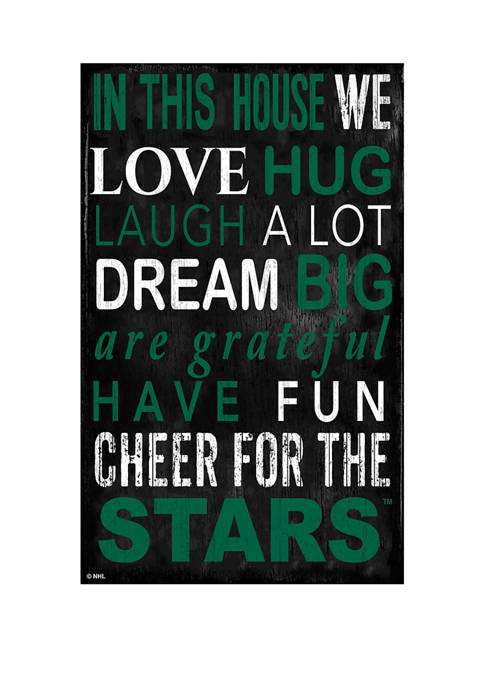 NHL Dallas Stars 11 in x 19 in In This House Sign