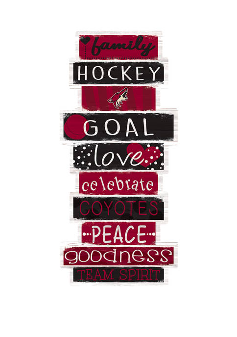 NHL Arizona Coyotes 24 Inch Celebrations Stack Sign