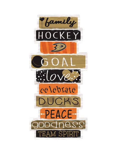 NHL Anaheim Ducks 24 Inch Celebrations Stack Sign