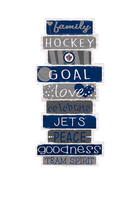 NHL Winnipeg Jets 24 Inch Celebrations Stack Sign